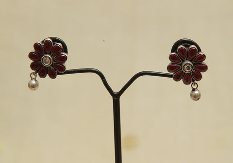 Sterling Silver Earrings  With Stones Design 104