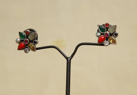 Sterling Silver Earrings  With Stones Design 105