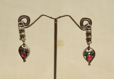 Sterling Silver Earrings  With Stones Design 106