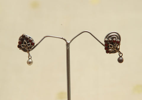 Sterling Silver Earrings  With Stones Design 108