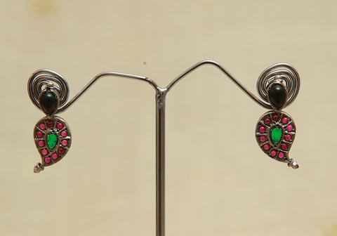 Sterling Silver Earrings  With Stones Design 110