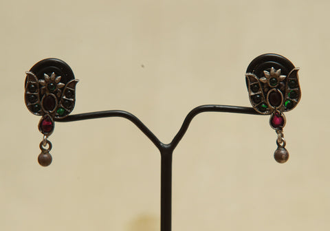 Sterling Silver Earrings  With Stones Design 111