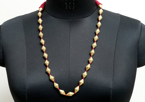 Gold Plated Silver Dolki Necklace Design 1