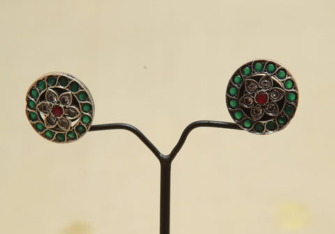 Sterling Silver Earrings  With Stones Design 114