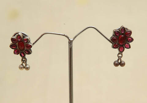 Sterling Silver Earrings  With Stones Design 127
