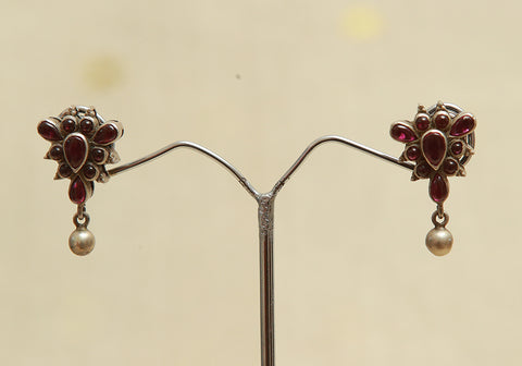 Sterling Silver Earrings  With Stones Design 86