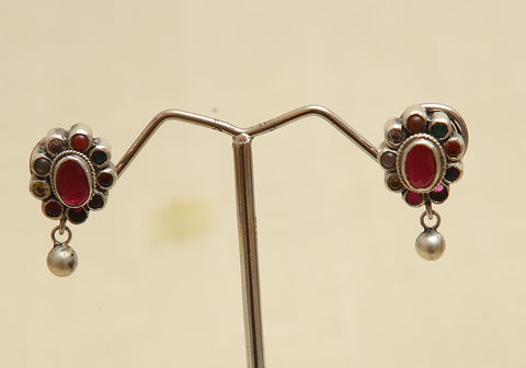 Sterling Silver Earrings  With Stones Design 126