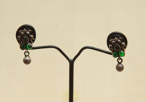 Sterling Silver Earrings  With Stones Design 128