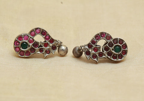 Sterling Silver Earrings  With Stones Design 129