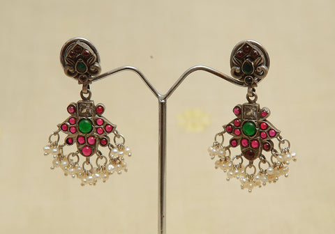 Sterling Silver Earrings  With Stones Design 116