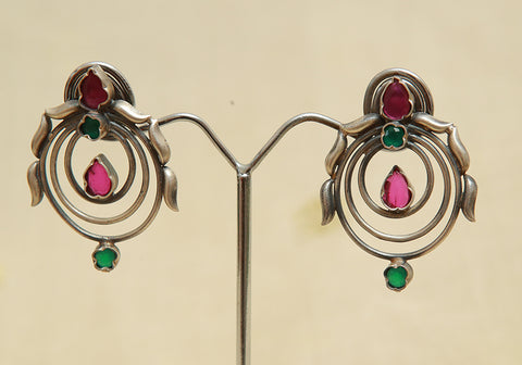 Sterling Silver Earrings  With Stones Design 118