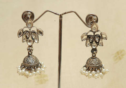 Sterling Silver Earrings  With Stones Design 120