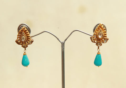 Sterling Silver Earrings  With Stones Design 123