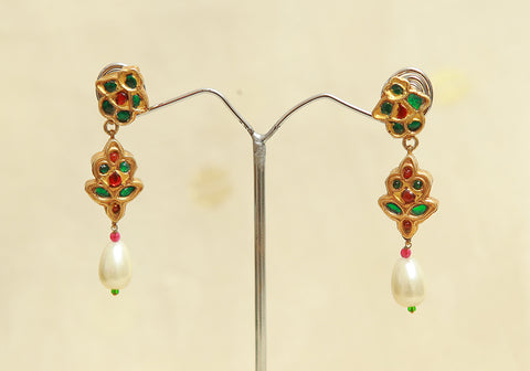 Sterling Silver Earrings  With Stones Design 122