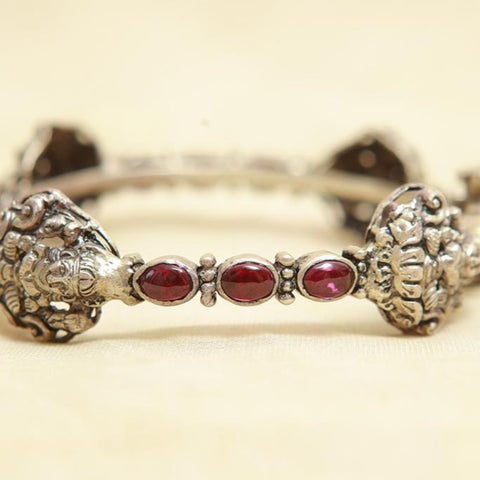 Silver Bangle with Stones Design 17