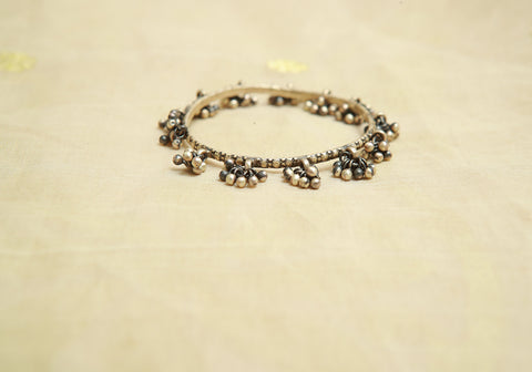 Silver Bangle with Stones Design 18