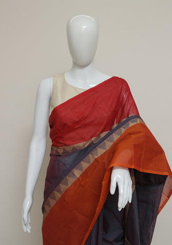 Chettinad Handloom Cotton Saree Design 102