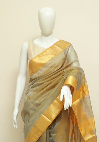 Block Printed Tussar Silk Saree Design 10