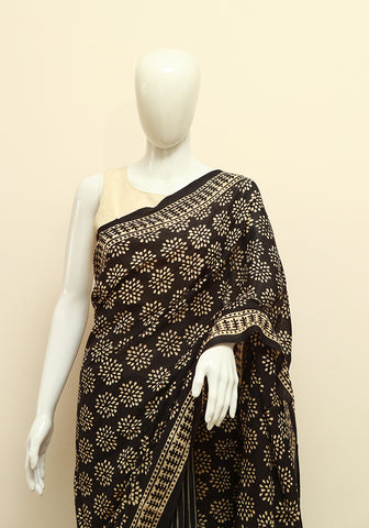 Block Printed Mul Cotton Saree Design 65