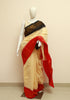 Off-white Sungudi Saree Design 4