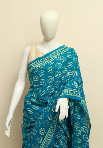 Block Printed Mul Cotton Saree Design 69
