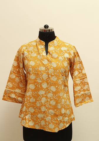 Block Printed Top Design 1
