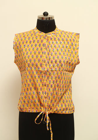 Block Printed Top Design 3