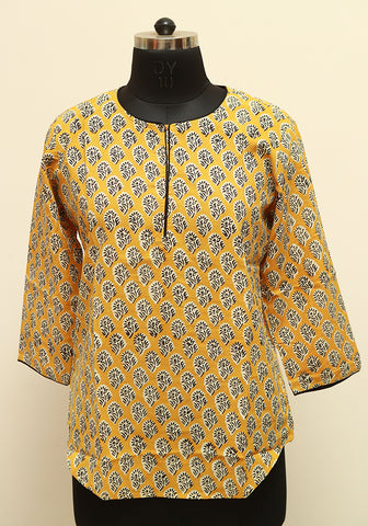 Block Printed Top Design 5