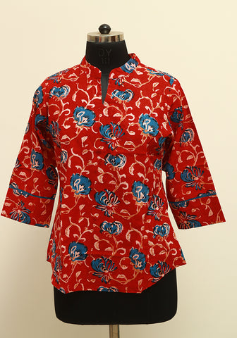 Block Printed Top Design 7