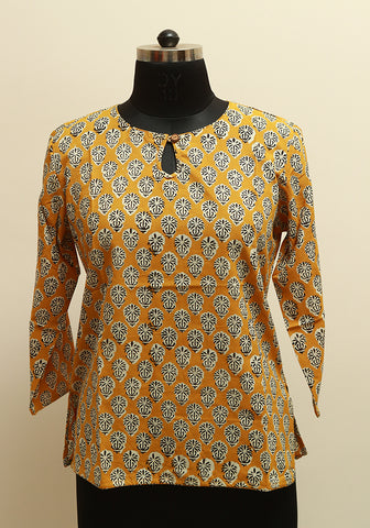 Block Printed Top Design 9
