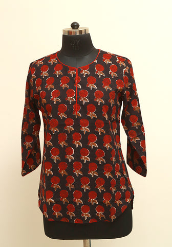 Block Printed Top Design 10