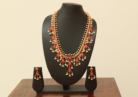 Traditional Temple Jewellery Set Design 12