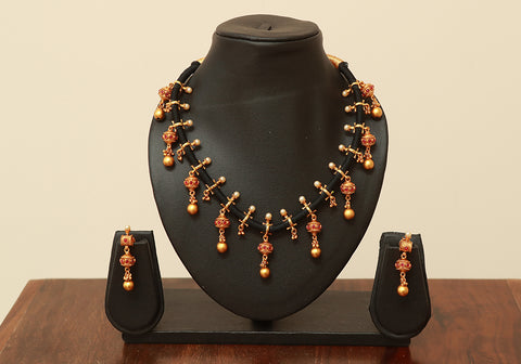 Traditional Temple Jewellery Set Design 10