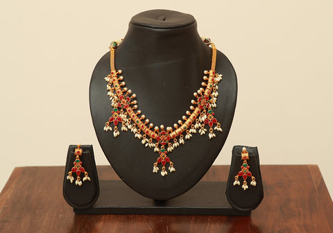 Traditional Temple Jewellery Set Design 14