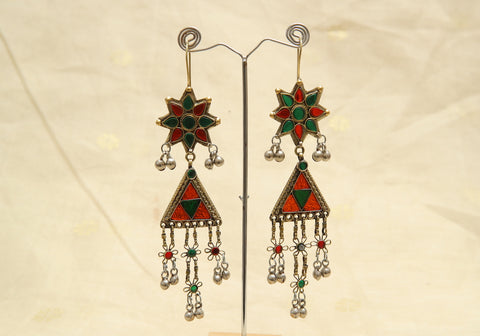 Tribal Afghan Earrings Design 3