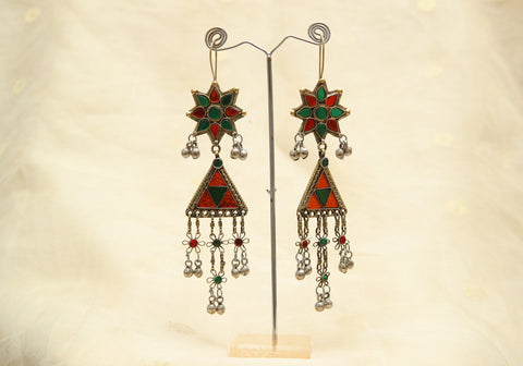 Tribal Afghan Earrings Design 7