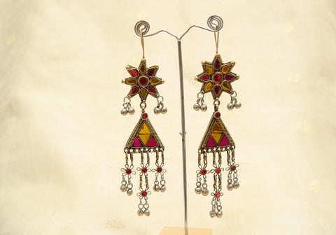 Tribal Afghan Earrings Design 10