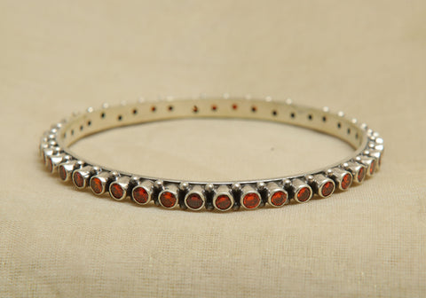 Silver Bangle with Stones Design 2