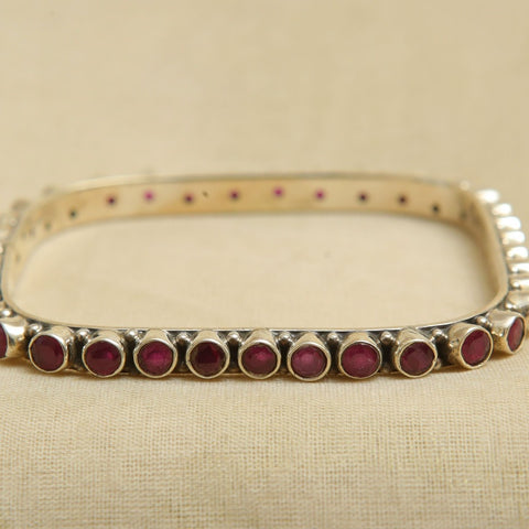 Silver Bangle with Stones Design 4