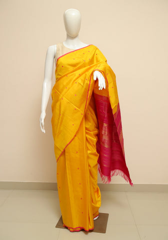 Block Printed Tussar Silk Saree Design 19