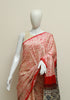Pink Shibori Modal Silk Saree with Ajrakh