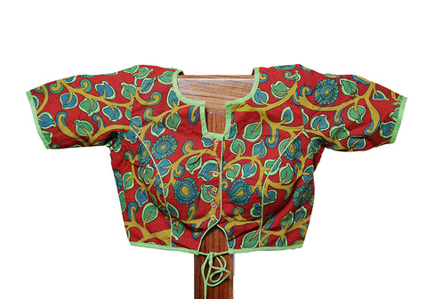 Kalamkari Readymade Blouse Design 11