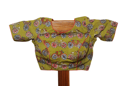 Kalamkari Readymade Blouse Design 24
