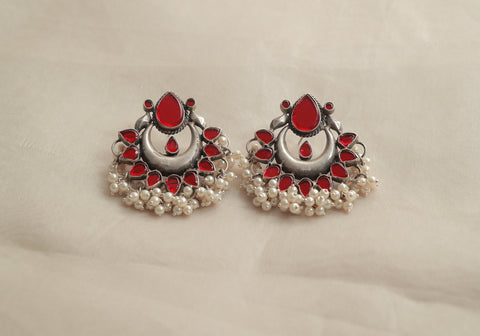 Sterling Silver Earrings with Stones Design 2