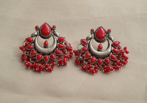 Sterling Silver Earrings with Stones Design 5