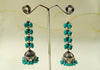 Silver earrings with semi-precious stones design 14