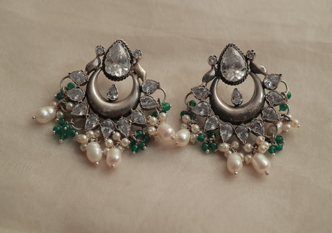 Sterling Silver Earrings with Stones Design 8