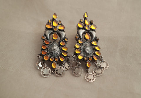 Sterling Silver Earrings with Stones Design 11