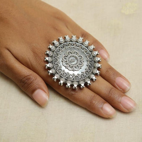 Adjustable Silver Ring Design 29