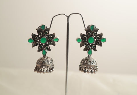 Sterling Silver Earrings with Stones Design 19